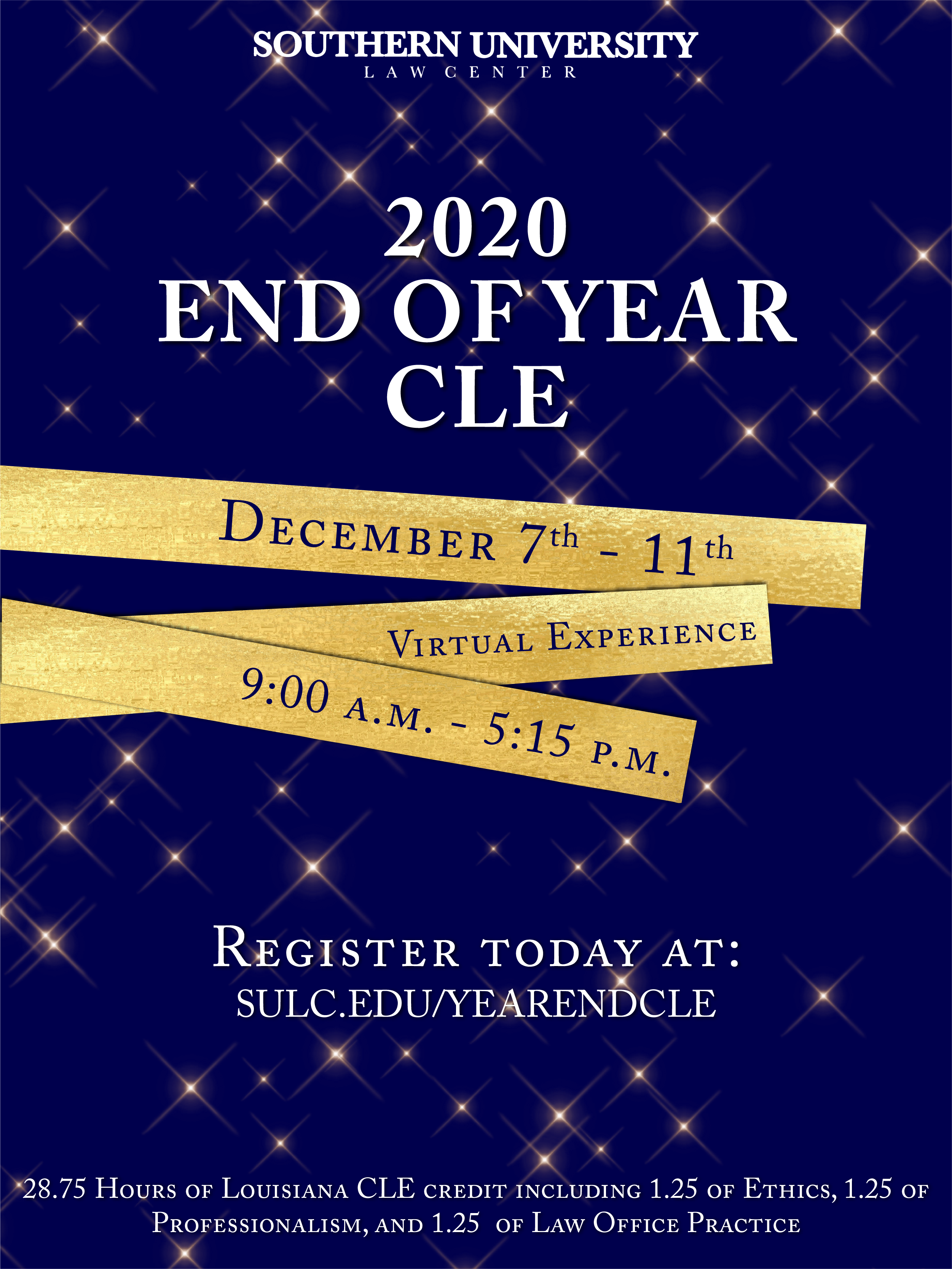 2020 End of the Year CLE