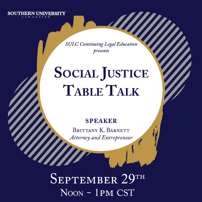 Social Justice Table Talk