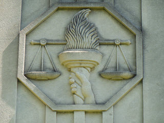 Justice Scales Statue
