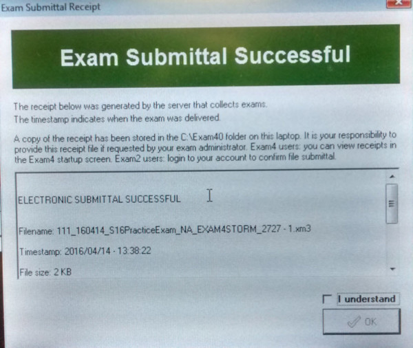 Successful Submital